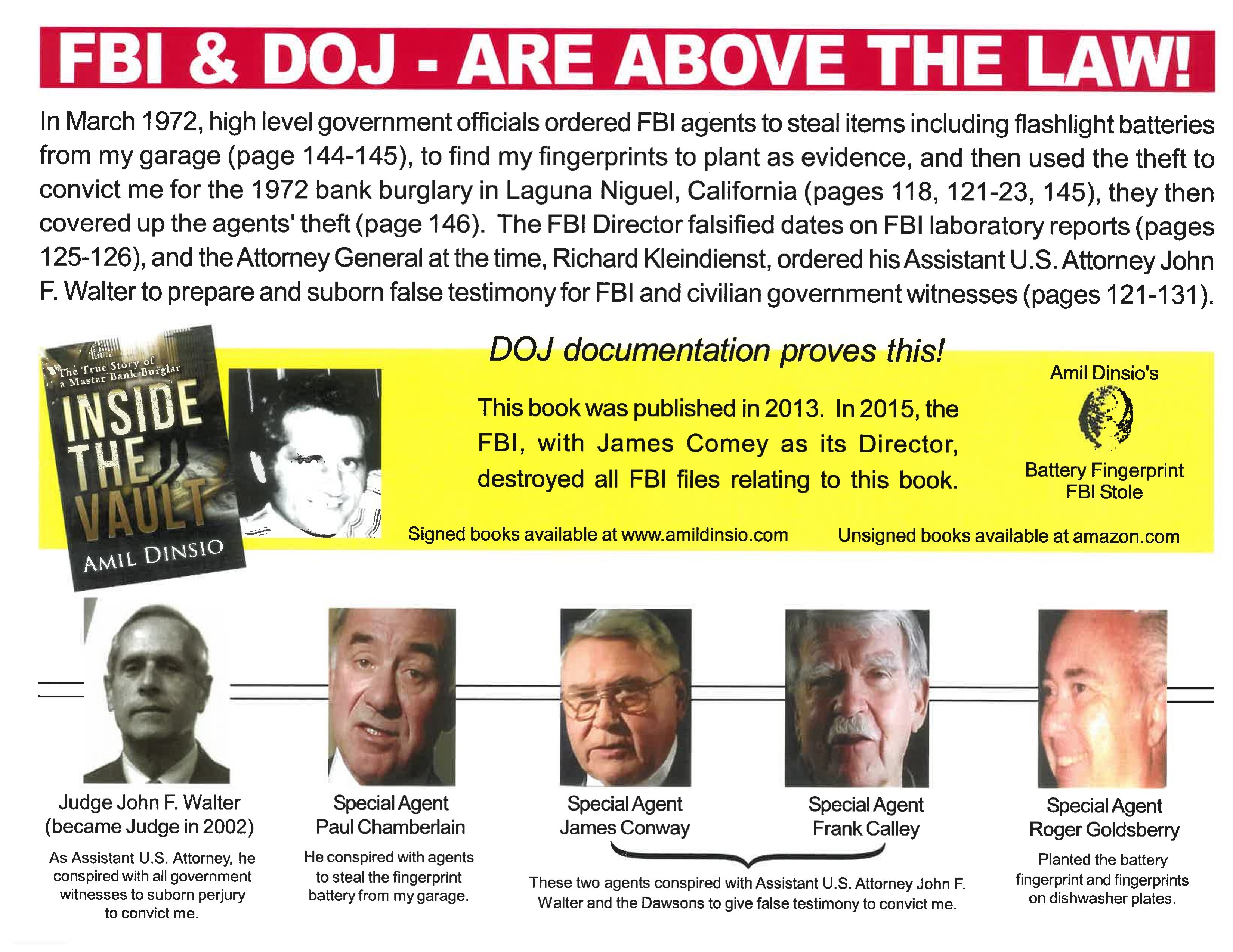 FBI and DOJ are above the law
